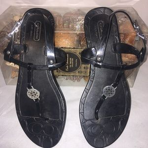 Authentic Coach  monogram sandals